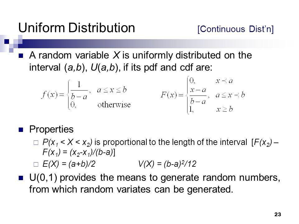 Uniform Distribution [Continuous Dist'n]